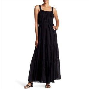 NWT $378 JOIE Veracruz Crochet Black Maxi Dress L